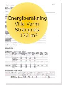 Energideklaration Villa Varm Strängnäs