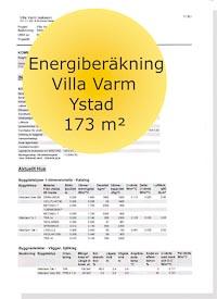 Energideklaration Villa Varm Ystad